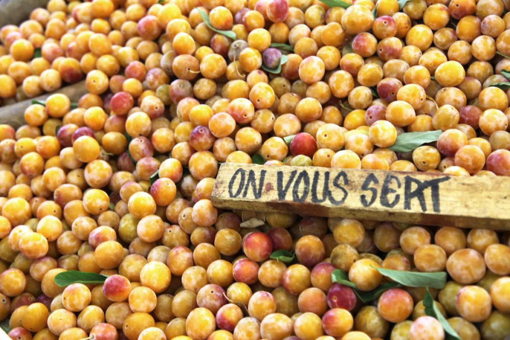 Mirabellen Frankreich Produkten der Saison