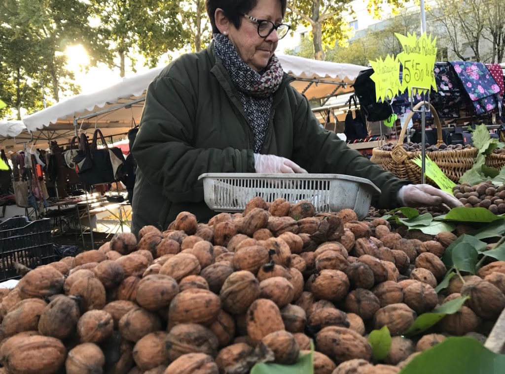 Walnüsse Markt Angers