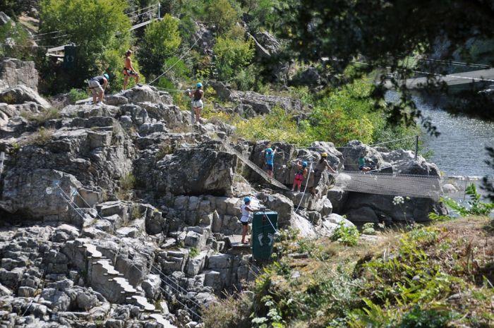 Aquarock Ardèche mit Kindern