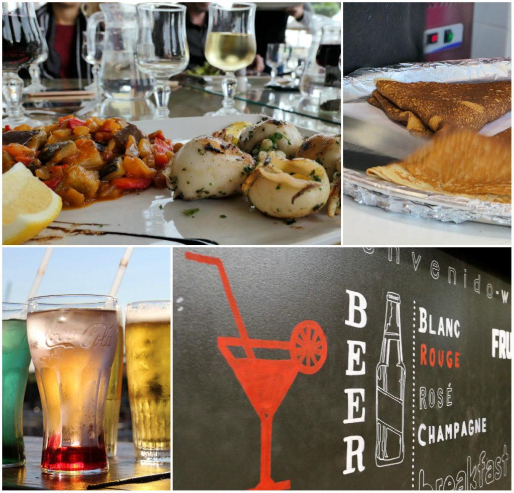 Verschiedene Restaurants und Bars