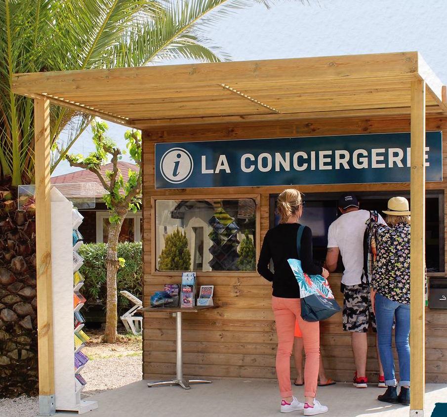 Service Conciergerie auf dem Campingplatz La Dragonniere