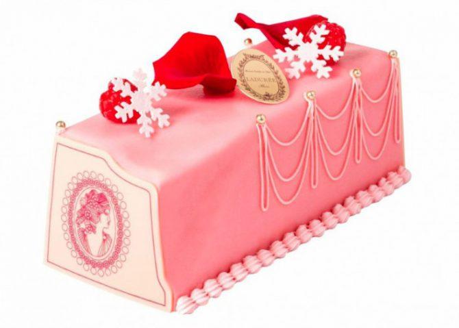 Buche de Noel La Durée Marie Antoinette