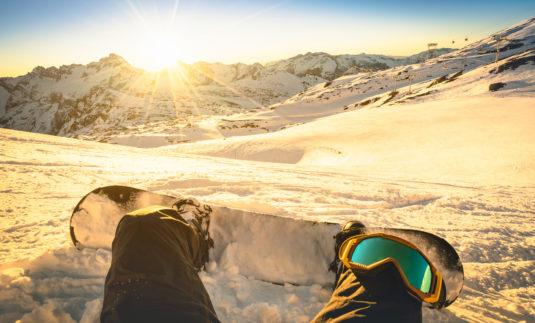Winterreifen Snowboarder