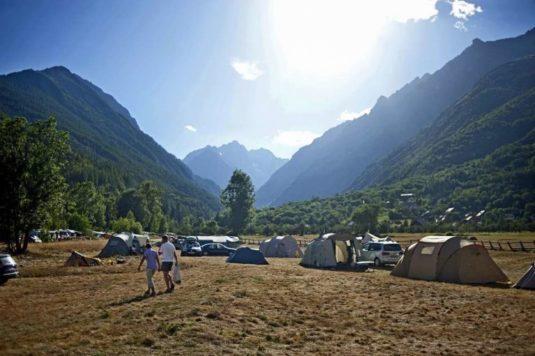 Campingplatz mit Aussicht Vallouise