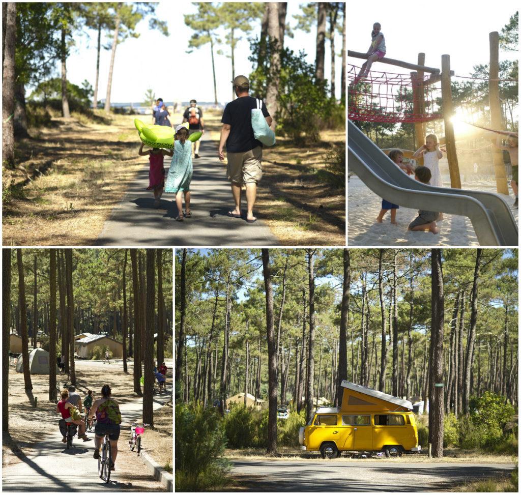 Huttopia Campingplatz Carcans an der atlantischen Küste