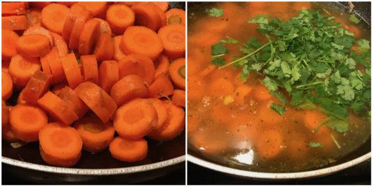 Karottensuppe Koriander