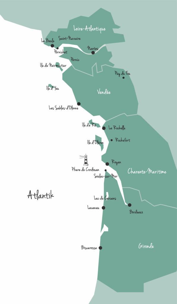 Karte Atlantik
