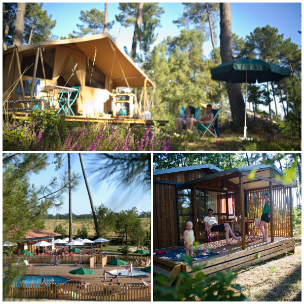 glamping-les-landes bei Huttopia