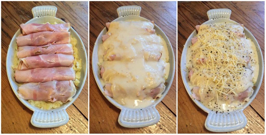 Chicorée-Gericht mit Béchamelsauce