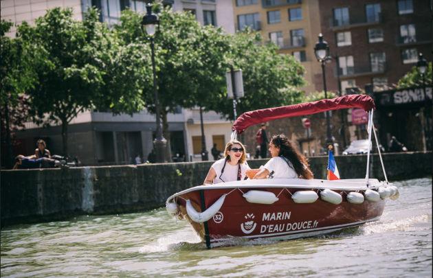 Marin d'eau douce Bootfahren Canal de L'Ourq