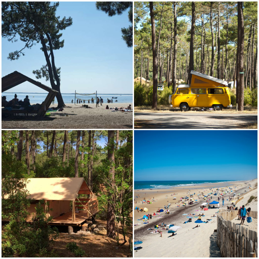 Lac des Carcans camping Huttopia