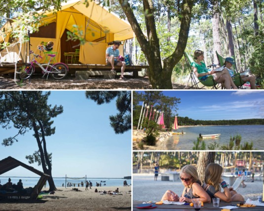 Camping Huttopia Lac de Carcan Landes