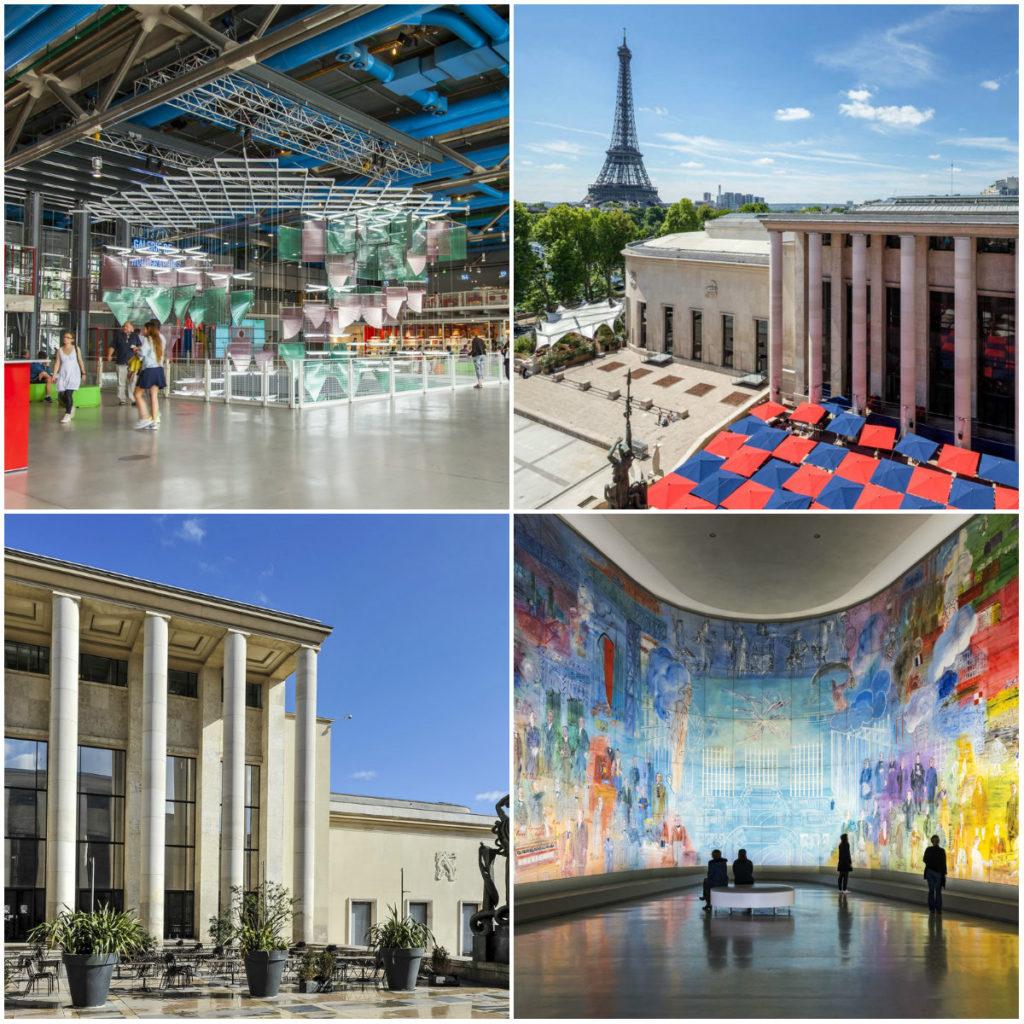 Paris Moderne Kunst Pompidou Palais de Tokyo