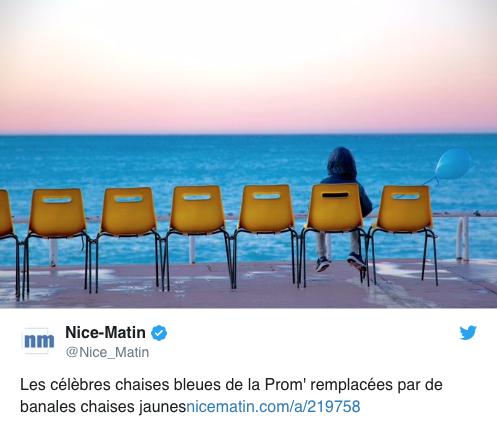 Blaue Stühle in Nizza geklaut
