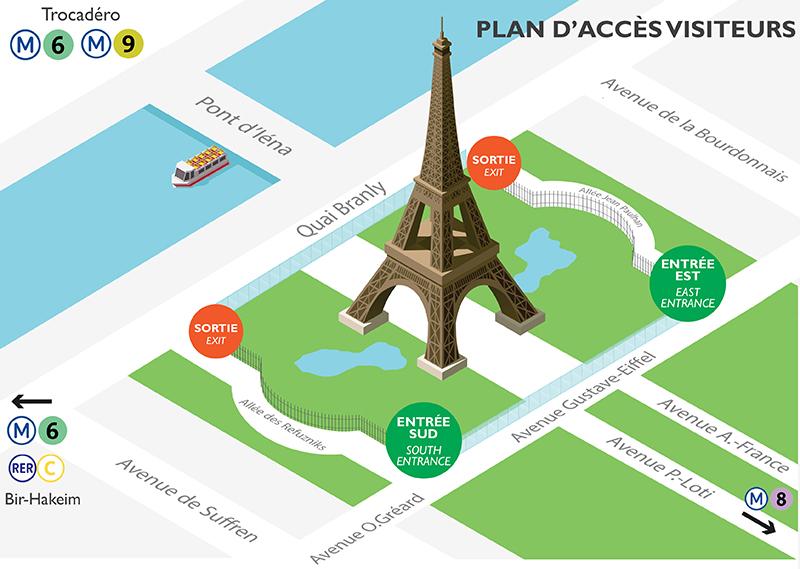 Eintrittskarte Eiffelturm