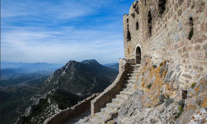 Pays Cathare Chateau de Quibérus Occitanie