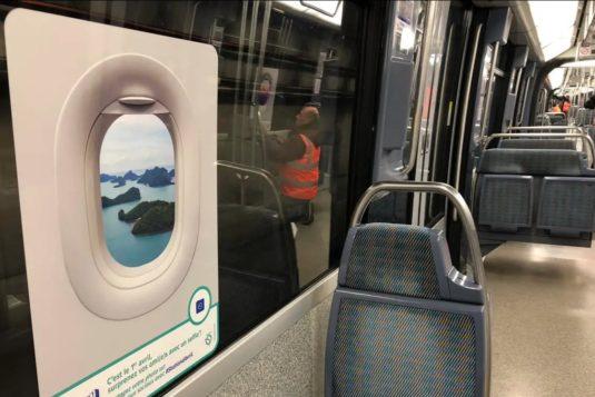 Pariser Metro wird zum Flugzeug