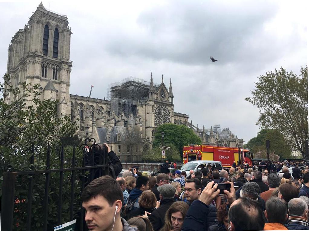 Notre Dame de Paris nach dem Feuer