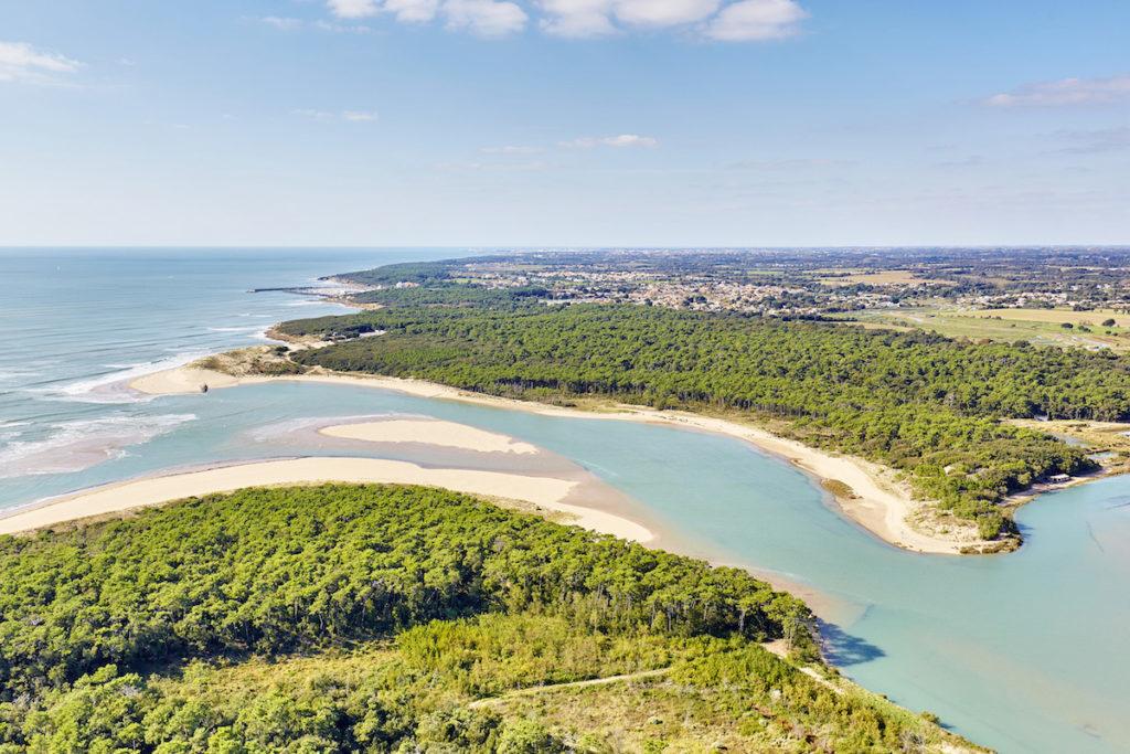 Veillon Plage d'Aiguillon Luftaufnahmen von der Vendée