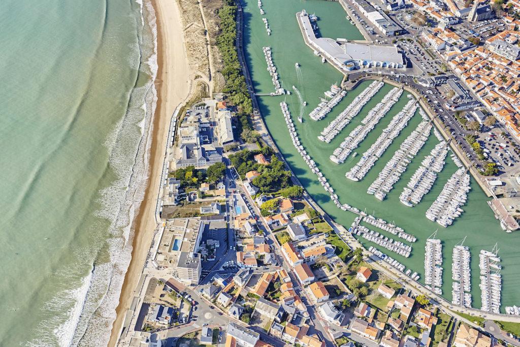 Saint Gilles Croix de Vie Luftaufnahmen von der Vendée