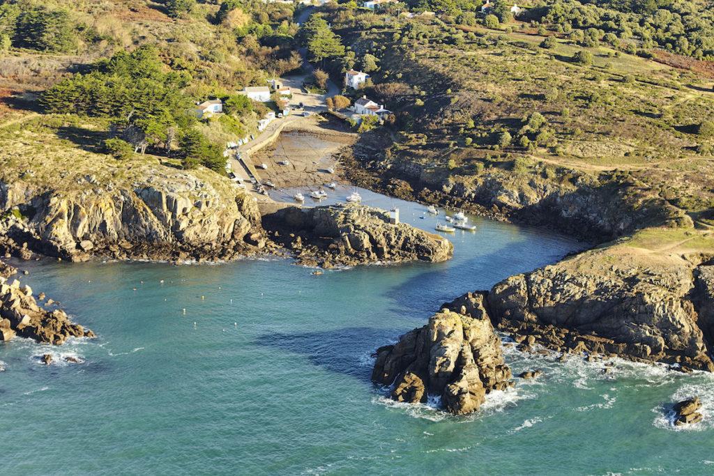 Ile d'Yeu Luftaufnahmen von der Vendée