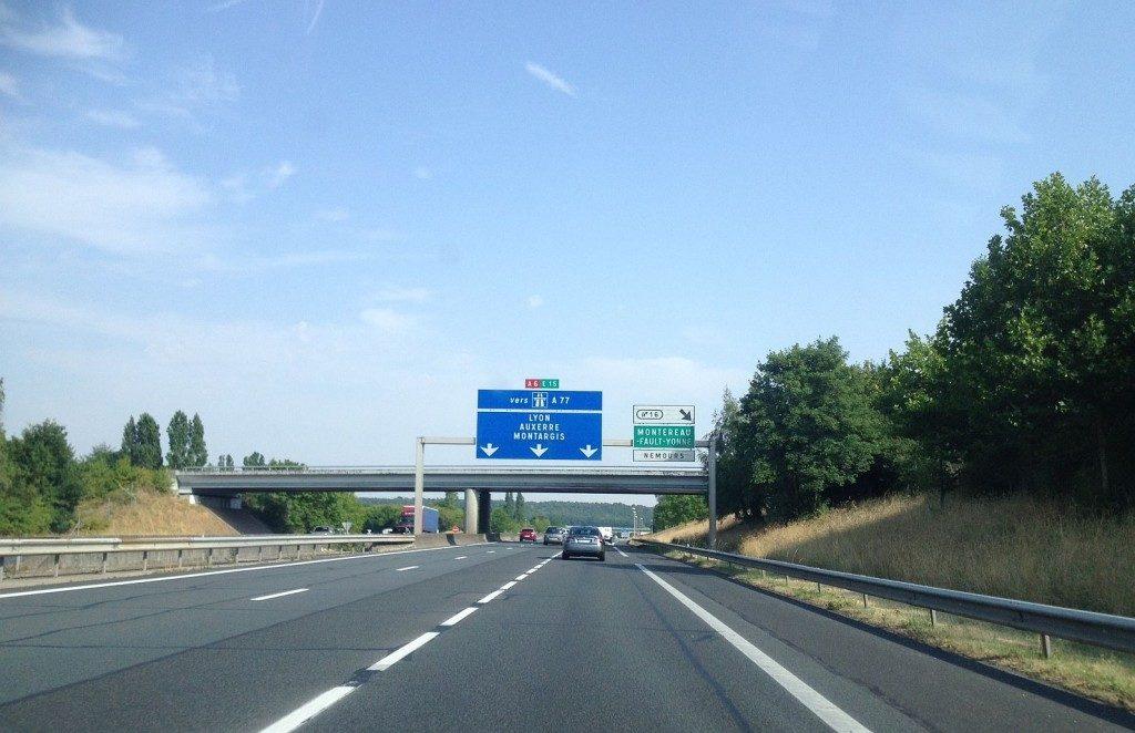 Autoroute A6 Nemours Evry Umweltplakette
