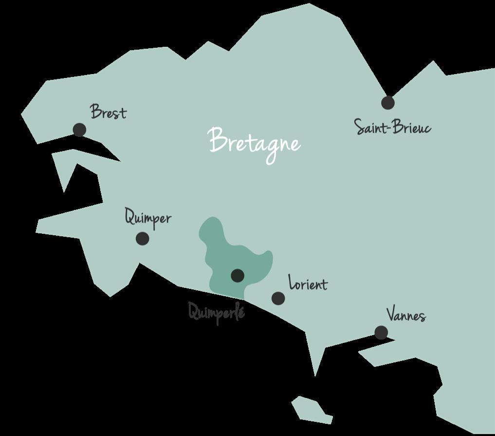 Bretagne Karte Quimperlé