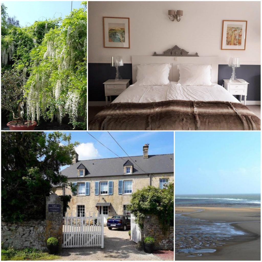 Normandie Maison Les Hirondelles Schlafzimmer