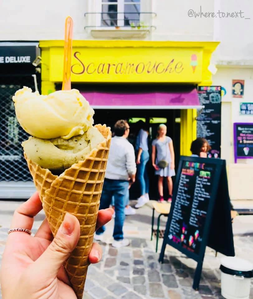 Scaramouche Eisdielen von Paris Montmartre