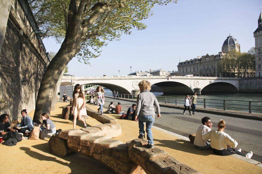 Picknickplätze in Paris Berges de Seine