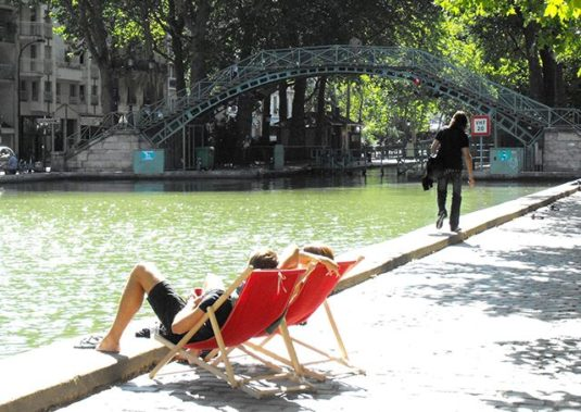 Picknickplätze in Paris Canal Saint Martin