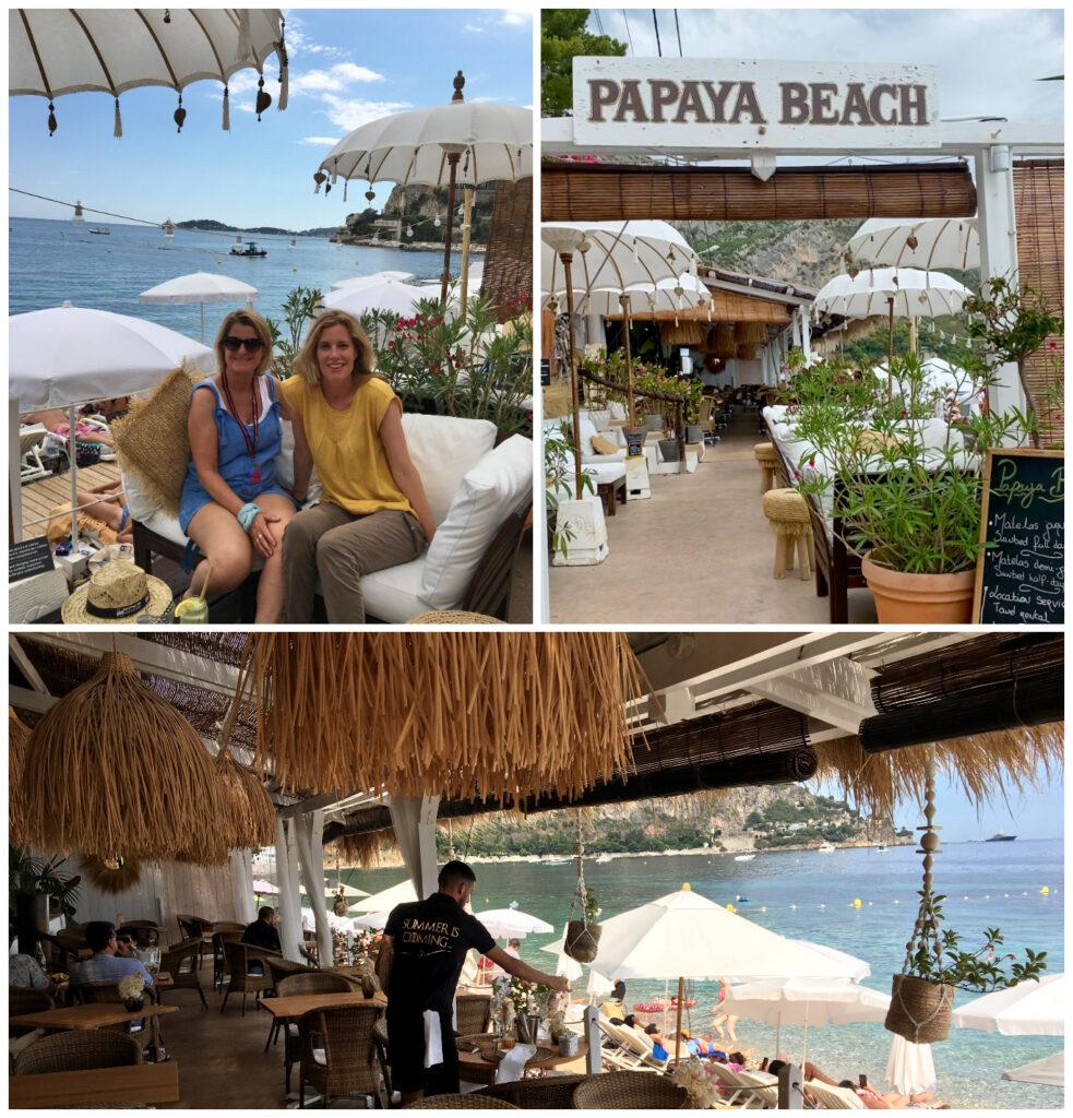 eze sur mer Papaya Beach