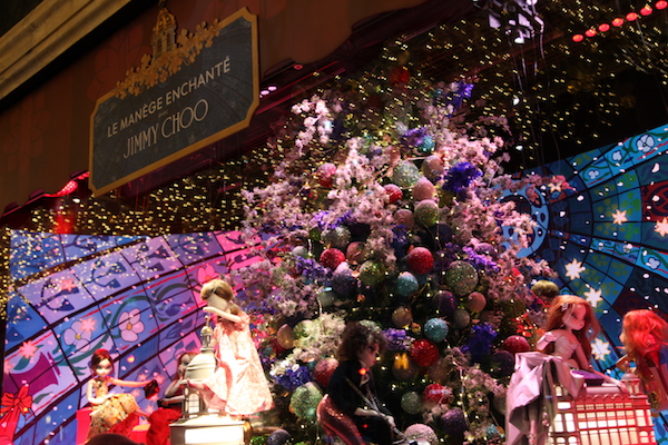 Weihnachts-Schaufenster Jimmy Choo