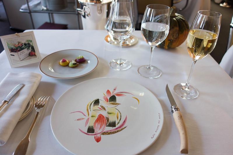 L'Arpège Mittagszeit Michelin-Sternen Alain Passard Paris