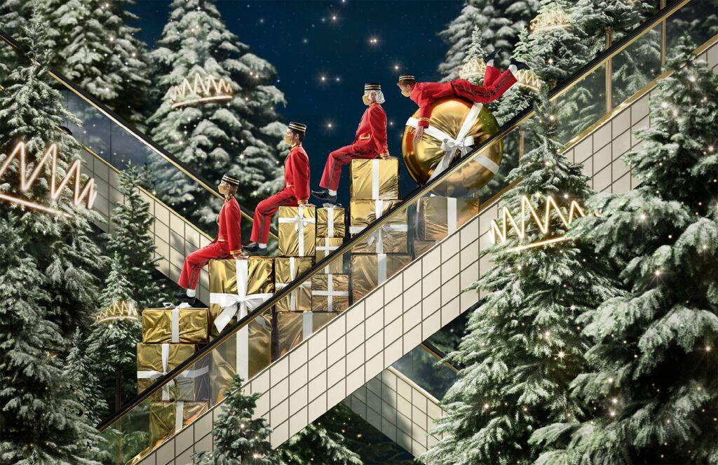 Le Bon Marché Les Rois de la Forêt Weihnachten-Schaufenste