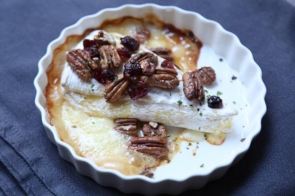 Brie Cranberry Honey überbackener, französischer Käse