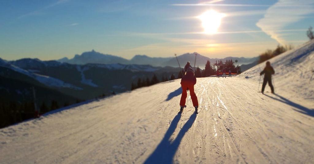Les Portes du Soleil Sohn Skifahren