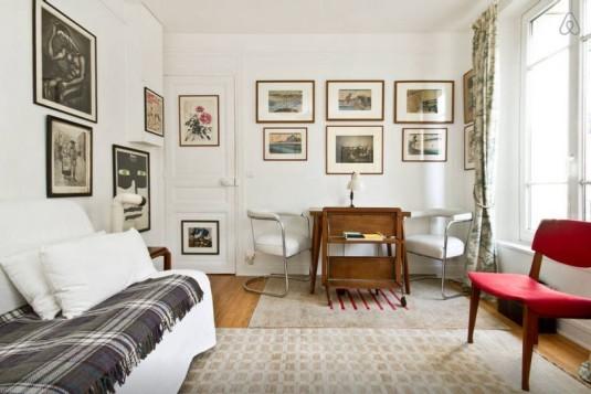 Arty Appartement mit Dachterrasse nahe Jardin du Luxembourg Paris airbnb