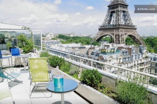 Penthouse gegenüber dem Eiffelturm