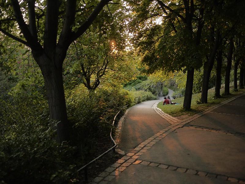 Parc de Belleville Paris Parks Gärten