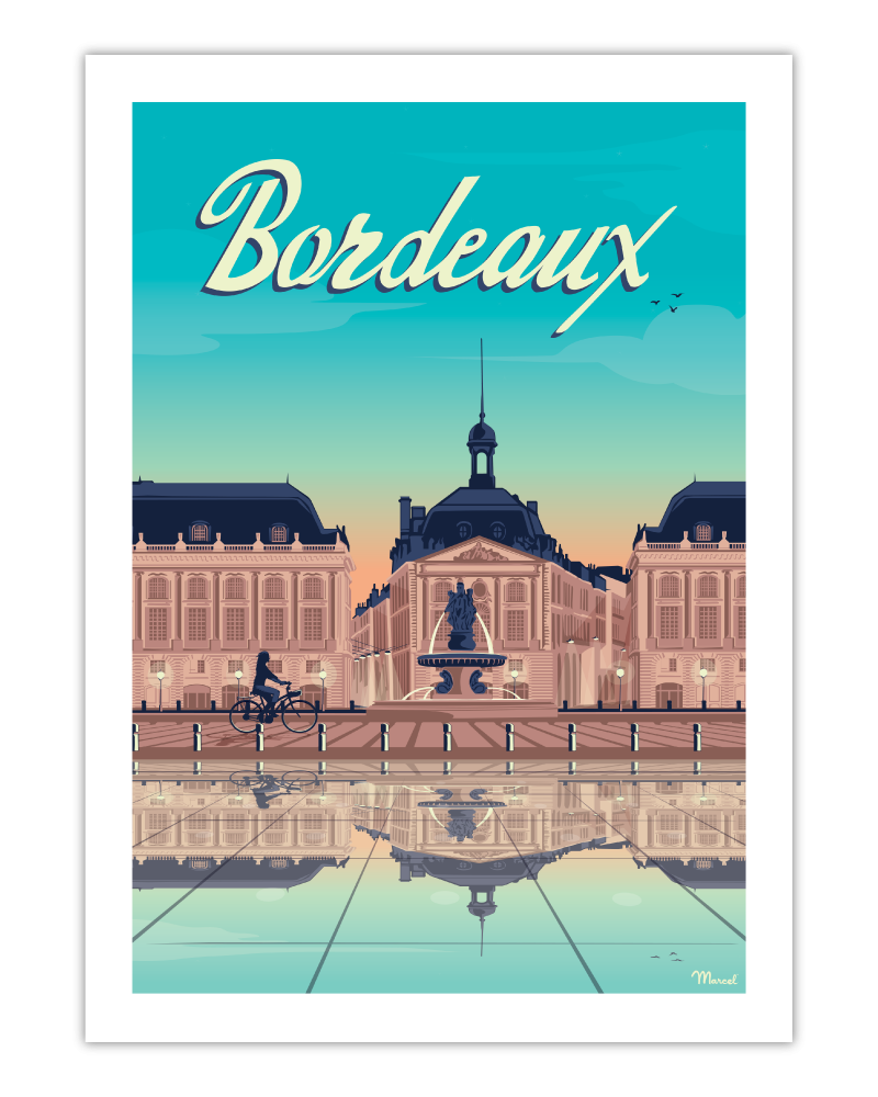 affiche bordeaux place de la bourse marcel travelposters