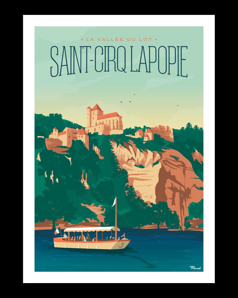 affiche saint cirq lapopie