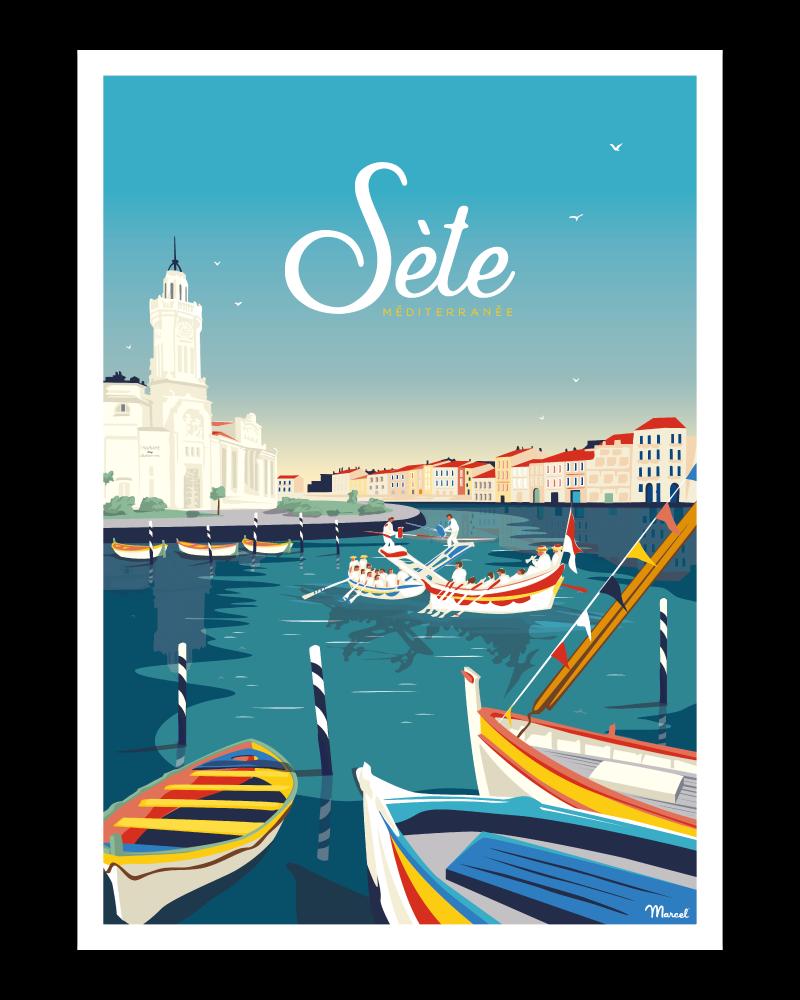 affiche sete marcel travel méditerranée