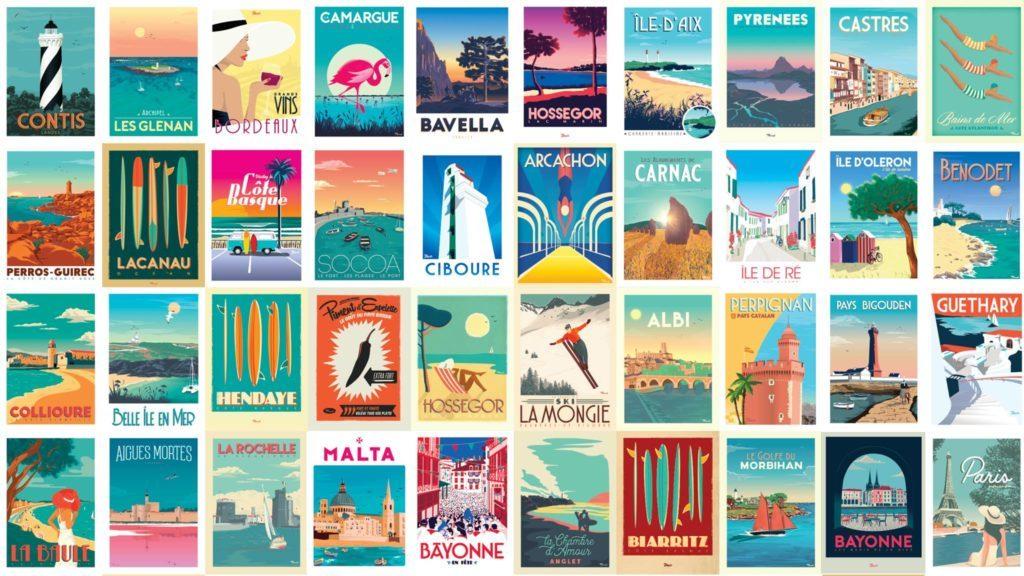 marcel travel posters affiche frankreich