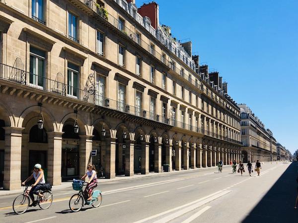 Paris Rue de Rivoli Autofreien Zone Corona Regeln