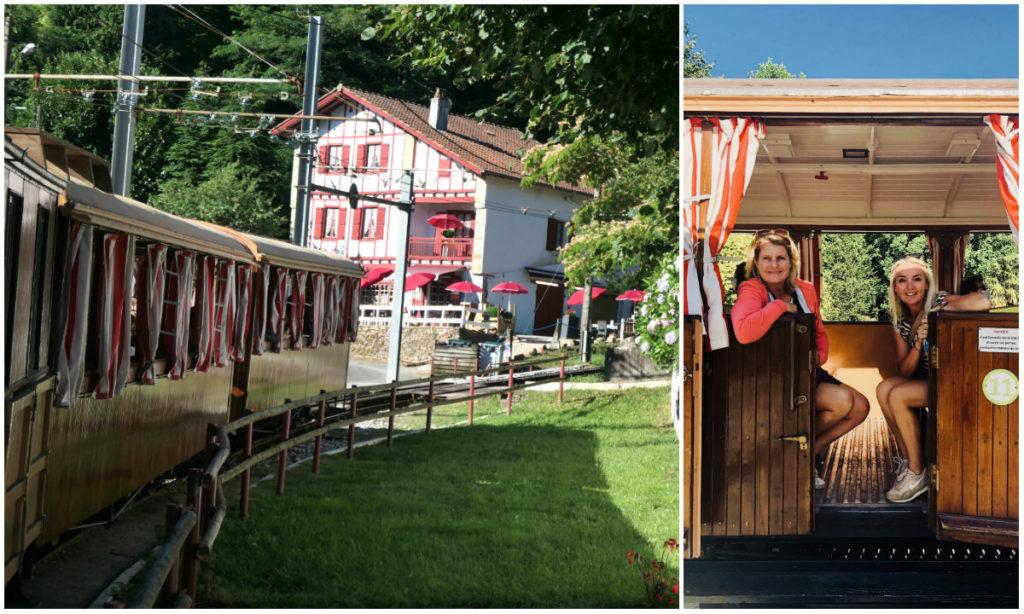 Petit Train de la Rhune MEGA- Aussicht auf der Bergspitze La Rhune