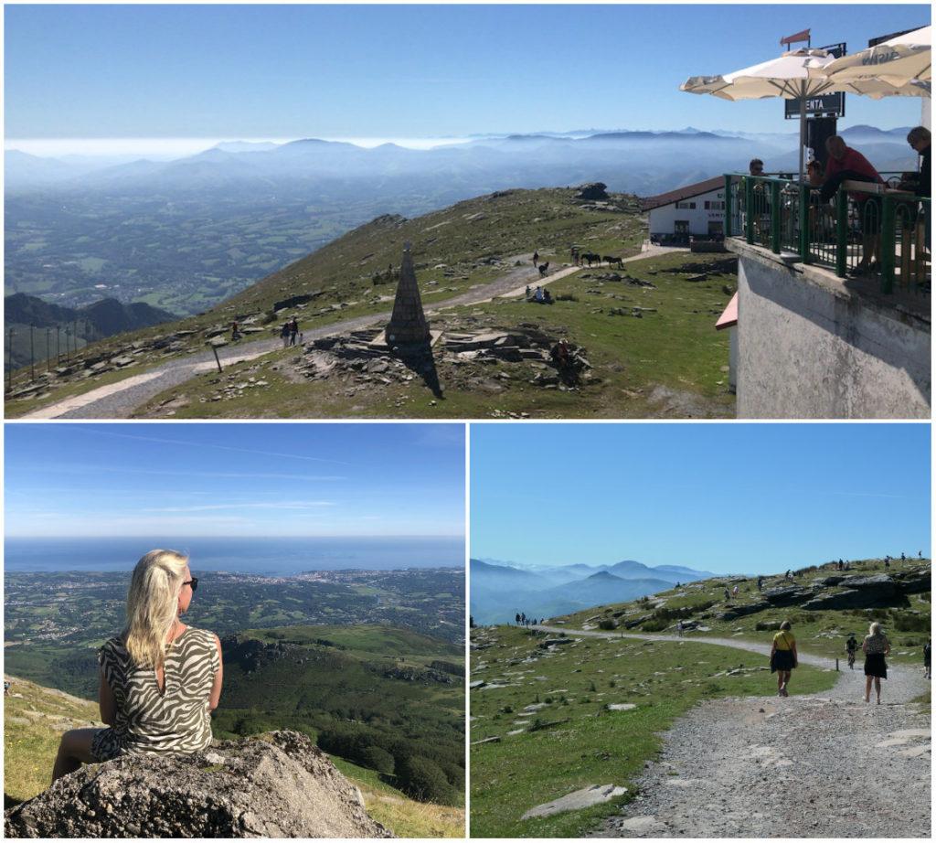 MEGA- Aussicht auf der Bergspitze La Rhune
