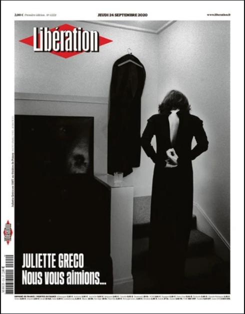 Titelseite der Zeitung Libération 24. September Juliette Greco