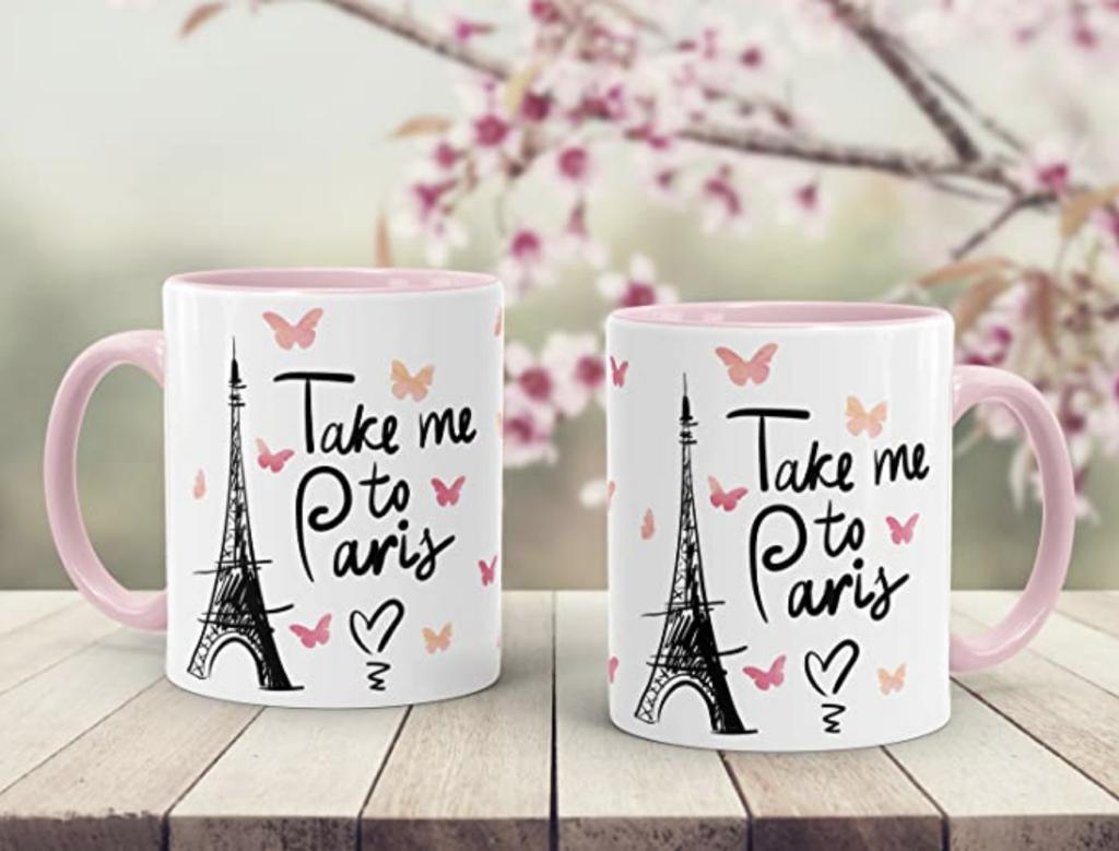 Kaffee-Tasse Take me to Paris Geschenk