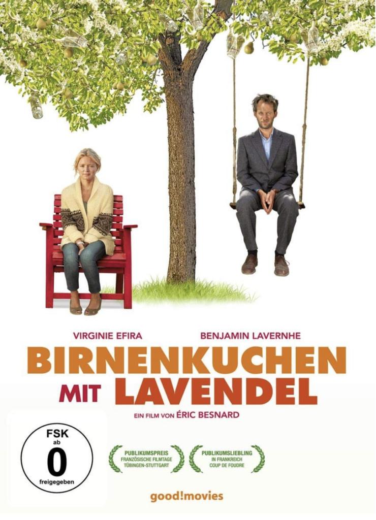 Franzosisches film Birnenkuchen mit Lavendel